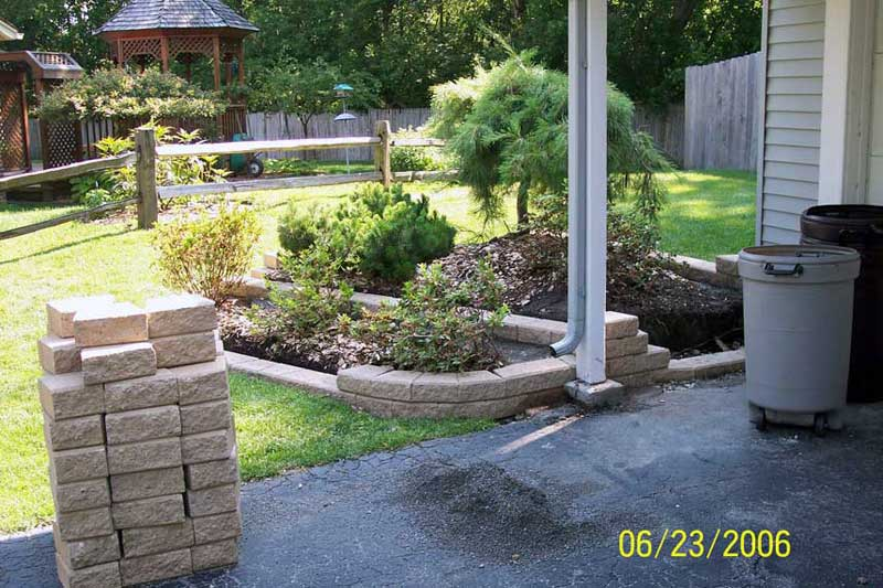 Oakland county brick paving flower box edging brick for Brick edging for your flower beds