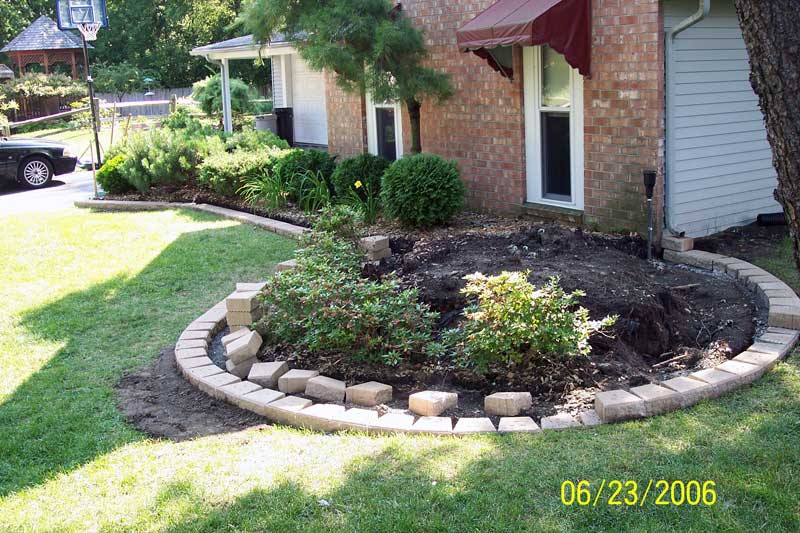 Oakland County brick paving, flower box edging, brick edging ...